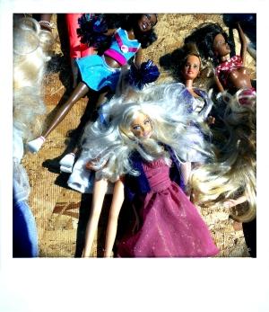 Platinum Blond Barbie, Berkeley CA, Spring 2014.