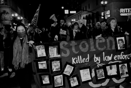 Stolen (Black Lives Matter Protest Series), Oakland CA, Winter 2014.