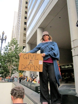 Give a Damn (The Great Collapse Protest Series), San Francisco CA, Fall 2011.