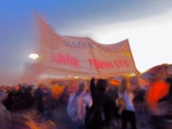Disarm Cops, Arm Feminists (Oakland General Strike), Port of Oakland, Fall 2011,