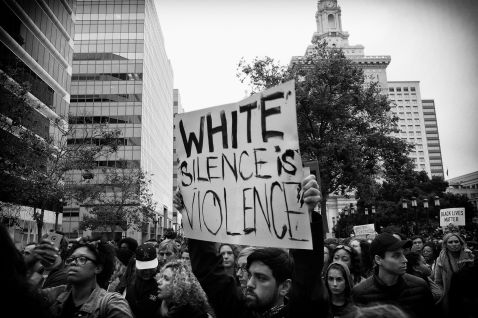 White Violence is Silence (Black Lives Matters Series), Oakland CA, Summer 2016.
