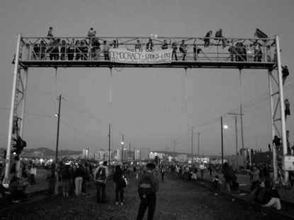 This is What Democracy Looks Like (Oakland General Strike), Port of Oakland, Fall 2011.