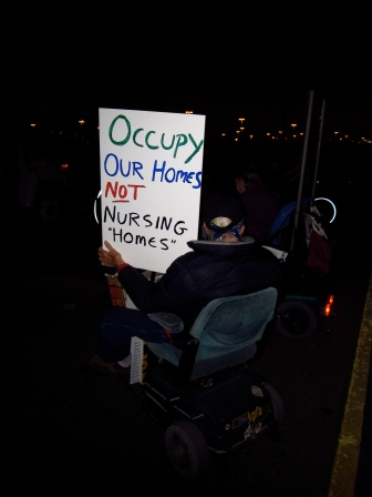 Untitled (Oakland General Strike), Port of Oakland, Fall 2011.