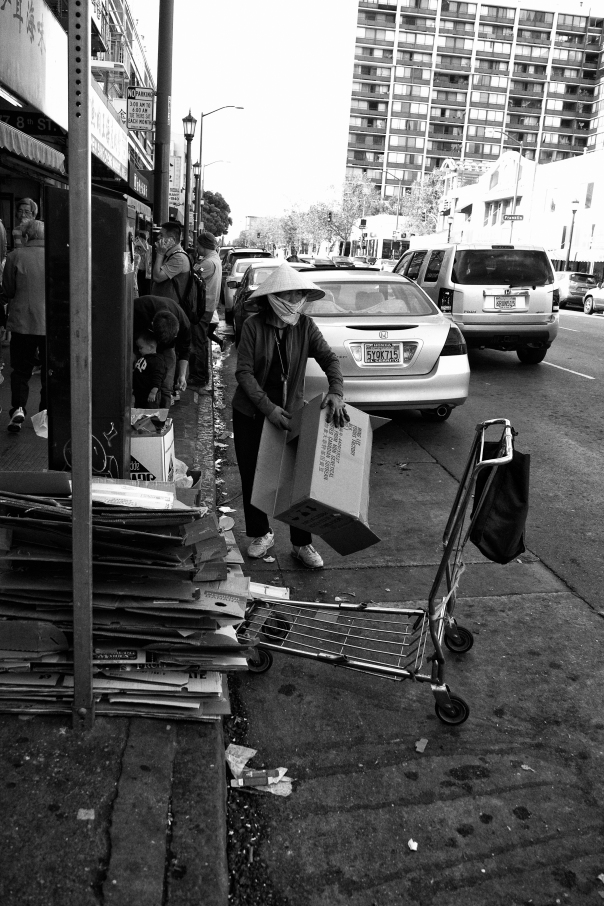 Urban Harvester (Chinatown Hustle Series), Oakland CA, Fall 2016.