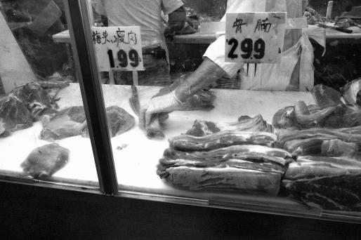 Cutting Bellies(Chinatown Hustle Series), Oakland CA, Fall 2016.