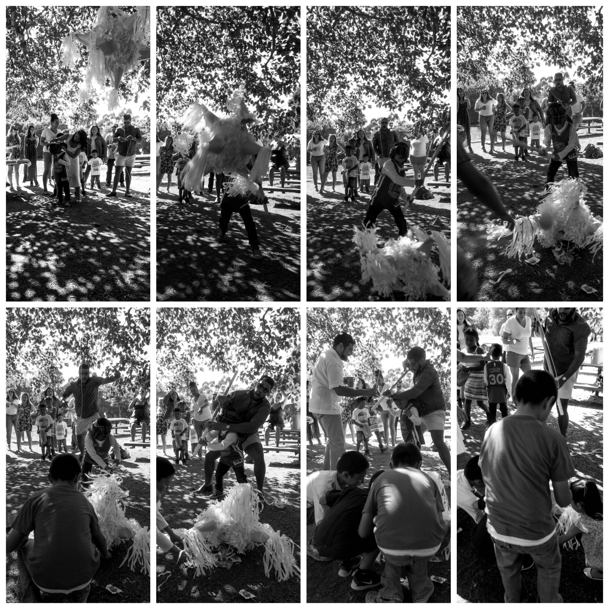 A Series of Decisive Moments (Piñata Sequence), Oakland CA, Summer 2016.
